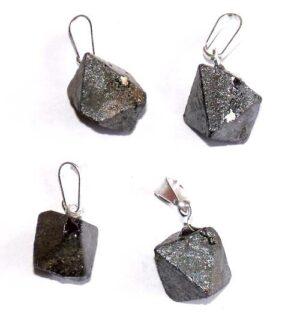 pendentif magnétite cristaux