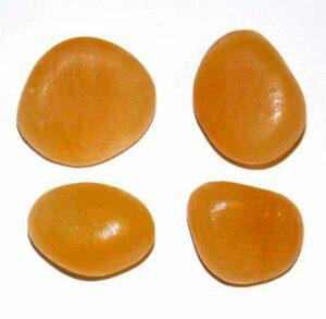calcite jaune roulée