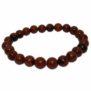 bracelet obsidienne mahogany acajou