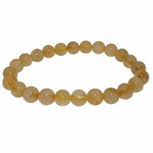 bracelet boules citrine