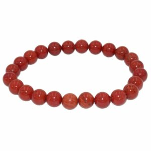 bracelet jaspe rouge boules